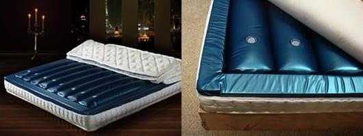 luxus schlafzimmer mit wasserbettmatratze