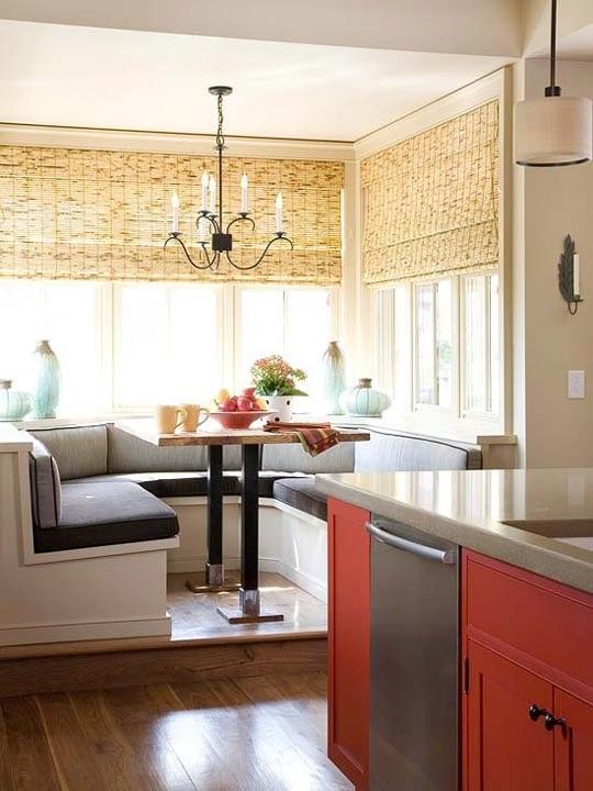 kochinsel in rot und schwarz für kleine küche