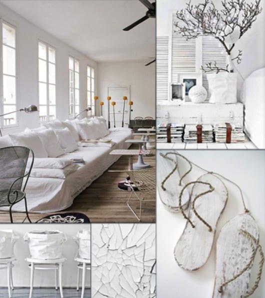 texturen und oberflächen in weiß streichen