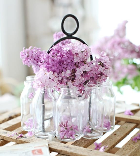 fantastische frühlingsdeko selber machen mit lila flieder