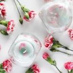 coole Bastelidee für DIY Nelkenkerze als Kreative Frühlingsdeko selber machen