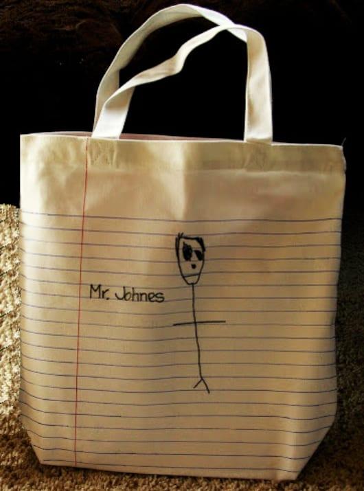 coole Idee für Stofftasche mit Zeilenmuster