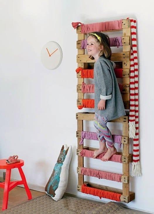 kinderzimmer gestalten mit diy leiter aus europaletten