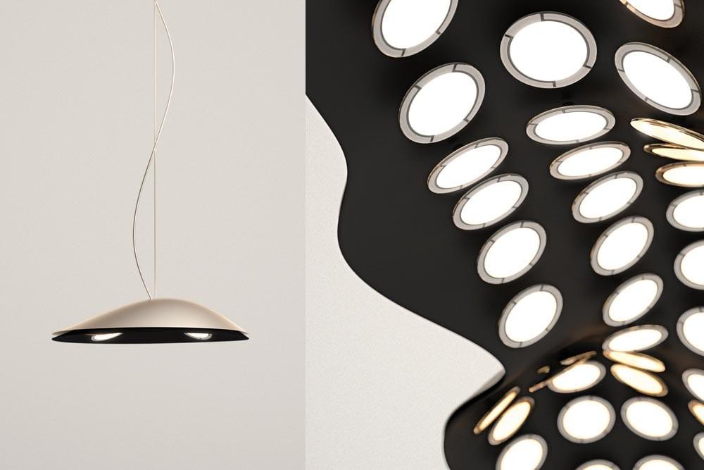 Deckenlampe mit OLED für minimalistische Raumgestaltung