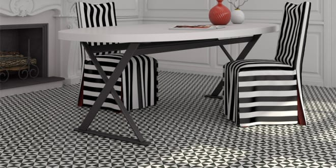Farbgestaltung Wohnzimmer in schwarz weiß mit modernen ...