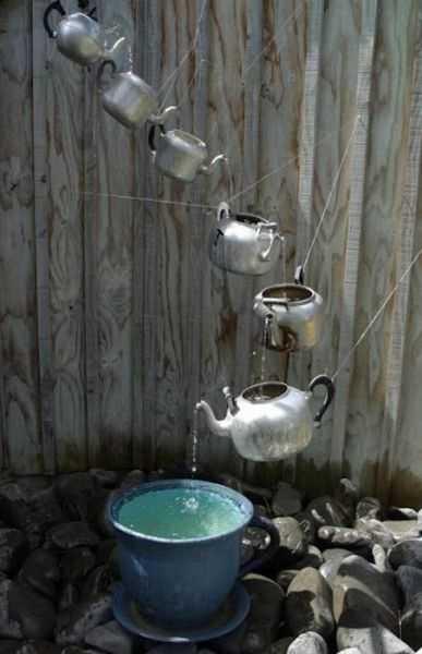 DIY Gartendeko mit wasser