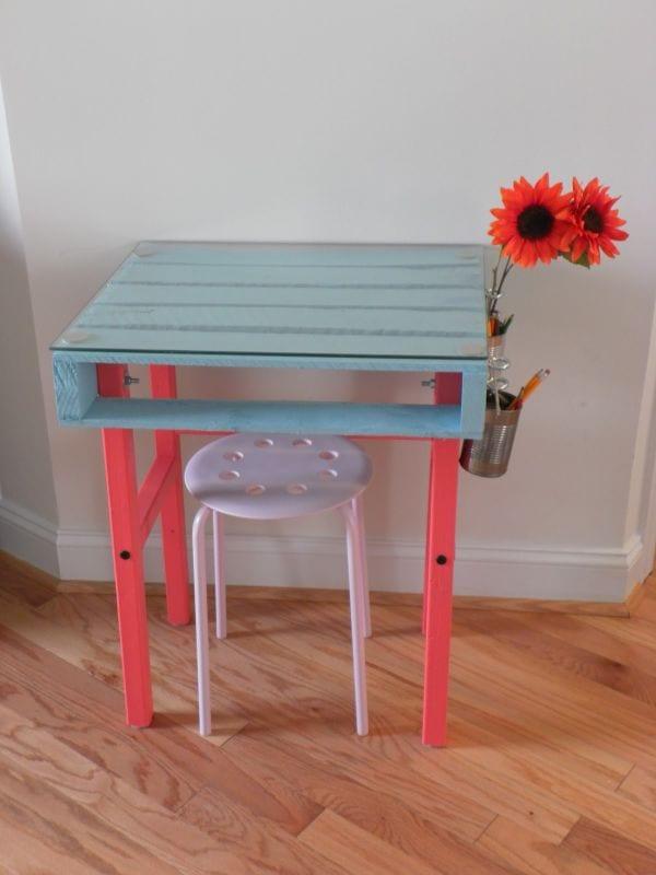 DIY Schreibtisch für kinder aus Europaletten