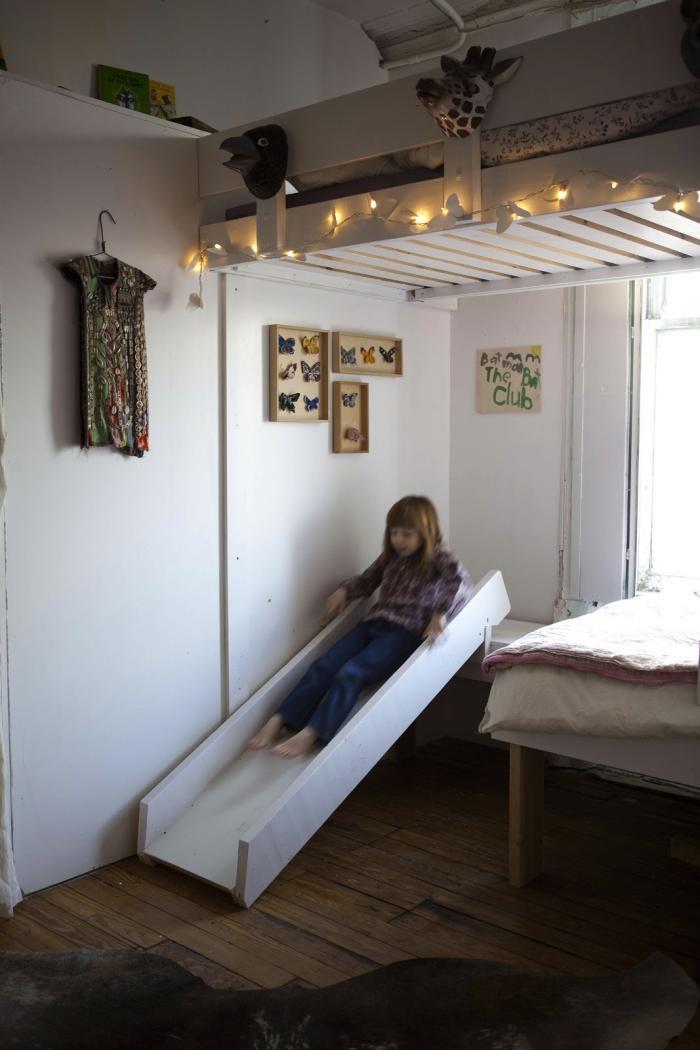 kinderzimmer gestalten mit diy rutsche via milk magazine freshouse. Black Bedroom Furniture Sets. Home Design Ideas