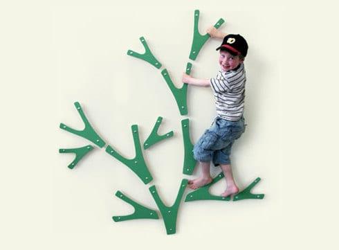 interessante wandgestaltung als kletterwand für Kinderzimmerggestaltung