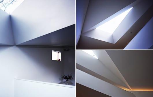 dreieckiges Oberlicht für coole und interessante Lichtgestaltung eines Mezzanins