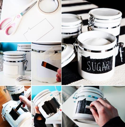 idee für muttertagsgeschenke selber basteln mit DIY zuckkerbehälter
