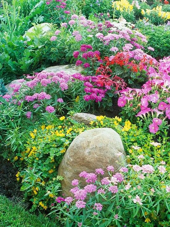 cottage garden gestalten mit steinen