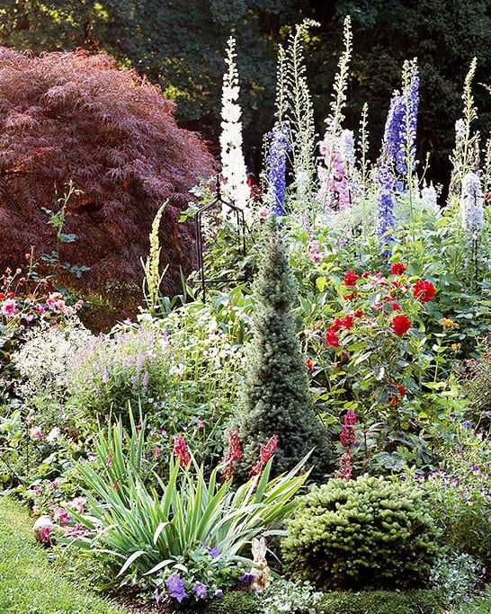 cottage garden als gartenform für einen traumgarten