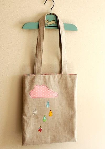 fantstische DIY Taschendekoration mit Textilien