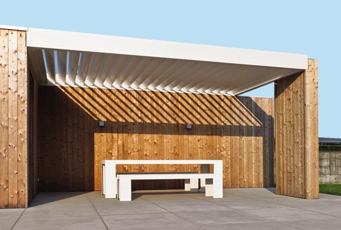 terrassengestaltung ideen mit terrassenüberdachung