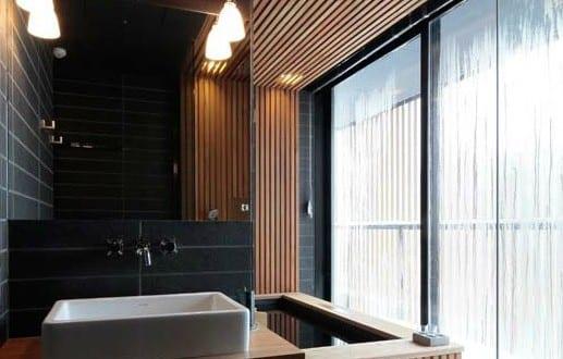 cooles interior design mit holz und naturstein f r modernes badezimmer holz freshouse. Black Bedroom Furniture Sets. Home Design Ideas