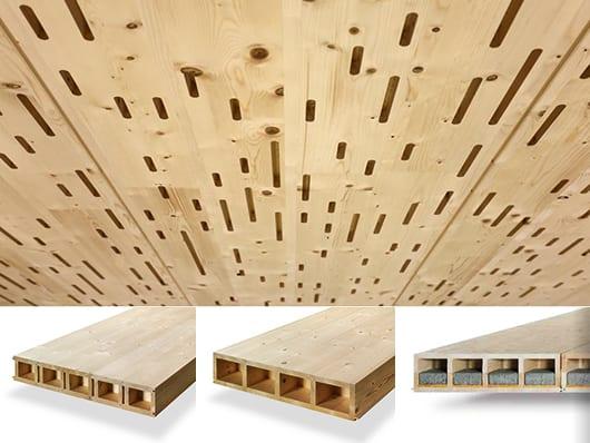 raumgestaltung mit Akustikpaneelen aus Holz mit Schlitzmuster