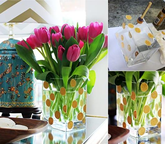 muttertagsgeschenke basteln und DIY vasegestaltung