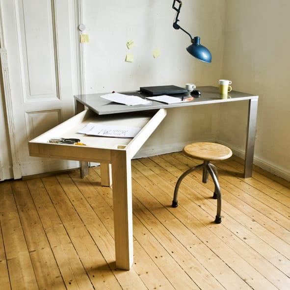 Schreibtisch selber bauen von zwei teilen für funktionale einrichtung kleiner zimmer