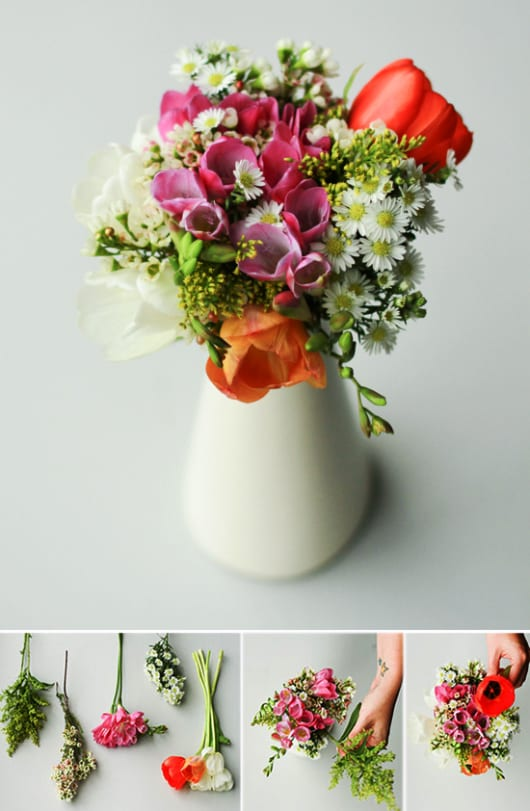 zum Muttertag Frühlingsblimen dekorieren und schenken