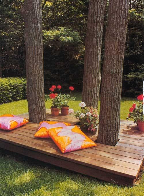 88 Coole Gartendeko Inspirationen - Freshouse Beispiel Mehrstufige Holzterrasse