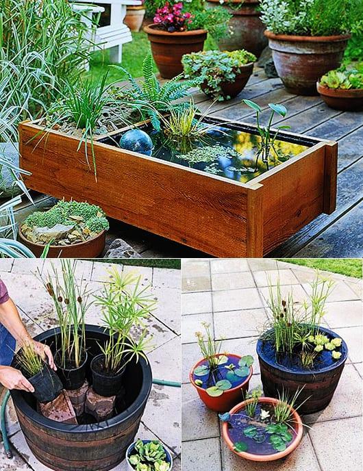 DIY Wassergarten als kreative gartendeko