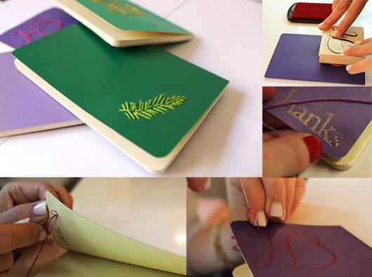 interessante Geschenkidee für frauen und männer mit DIY notizbuch