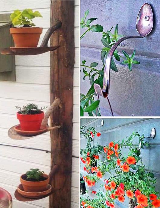 DIY Gartendeko und DIY Blumentoüfhalter