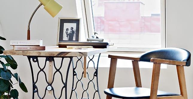 idee f r schreibtisch selber bauen von n hemaschine freshouse. Black Bedroom Furniture Sets. Home Design Ideas