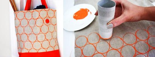 DIY Kreismuster mit Pappe