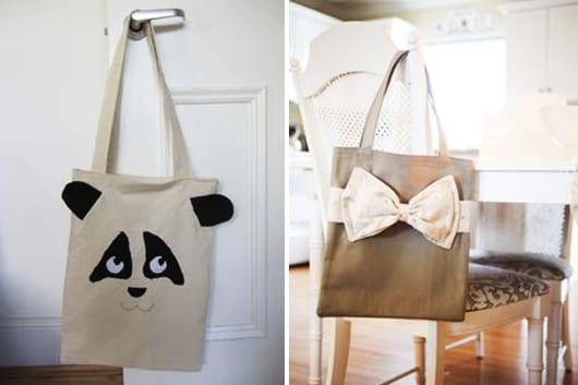 DIY Dekoration für Stofftaschen