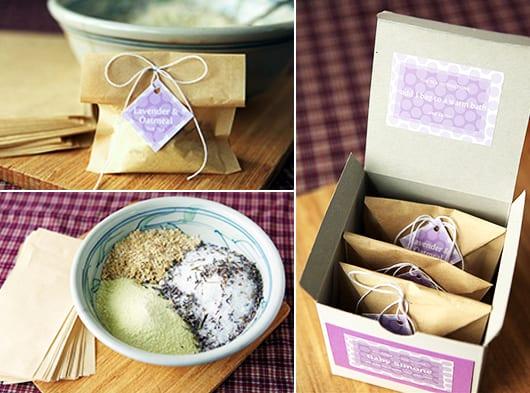 DIY Teebeutel mit Lavendel für die Badewanne als Geschenkidee