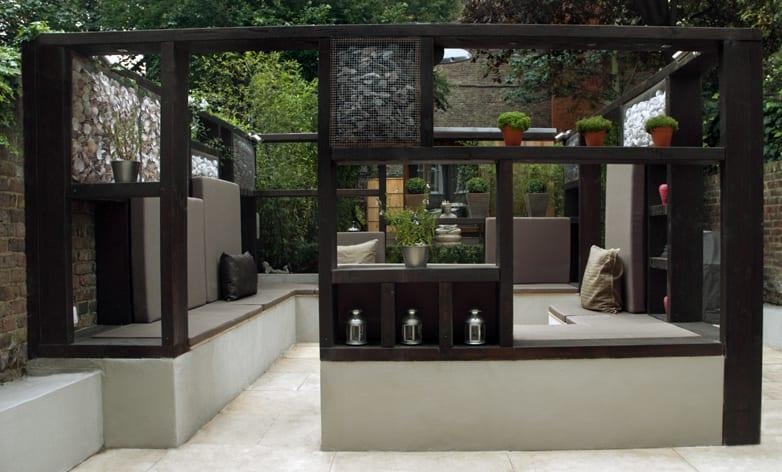 mein schöner garten ideen für terrasse garten mit gartenpavilion und ...