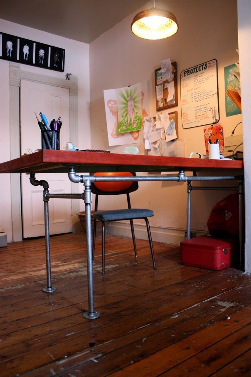 Exquisit Eckschreibtisch Selber Bauen Beste Wahl Schreibtisch Mit Wasserröhren