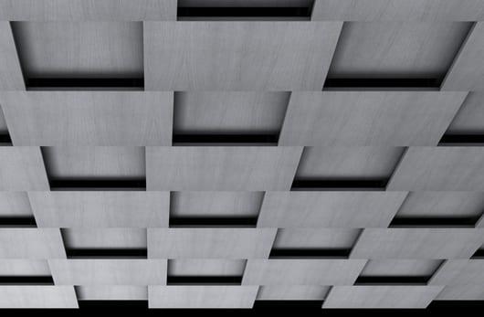 luxus raumgestaltung und akustische Deckengestaltung in grau
