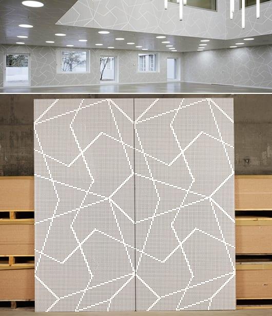 kreative Wandgestaltung mit Schallschutzpaneelen weiß
