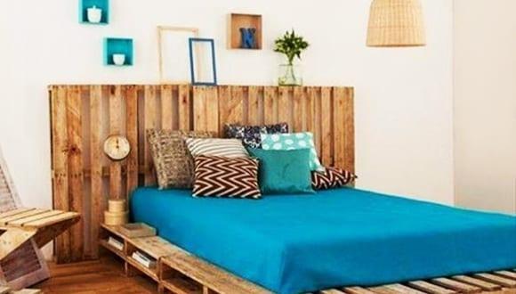 Schlafzimmereinrichtung mit Paletten