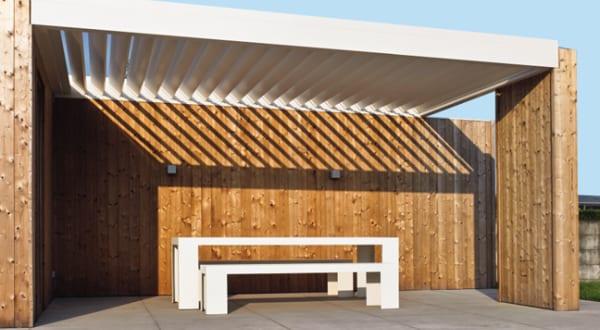 moderne Terrassenüberdachungen