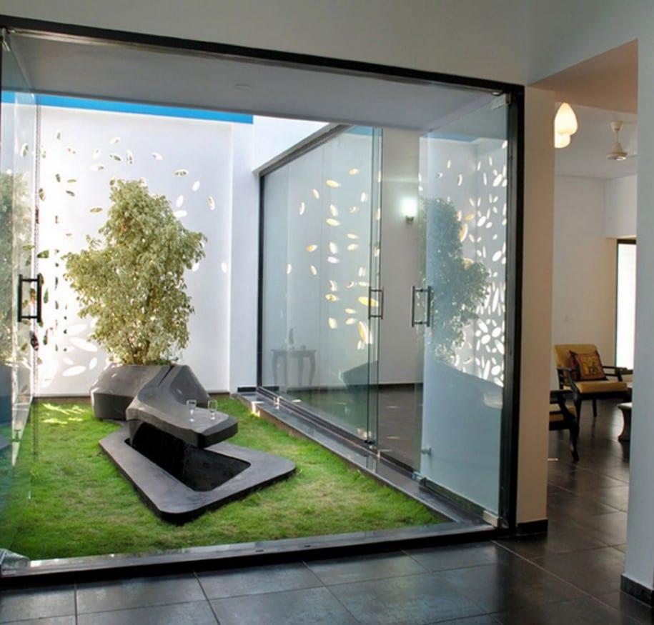 luxus wohnung mit gartenhof