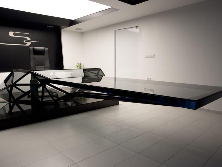 moderne Büromöbel für luxus Büroräume Einrichtung in schwarz