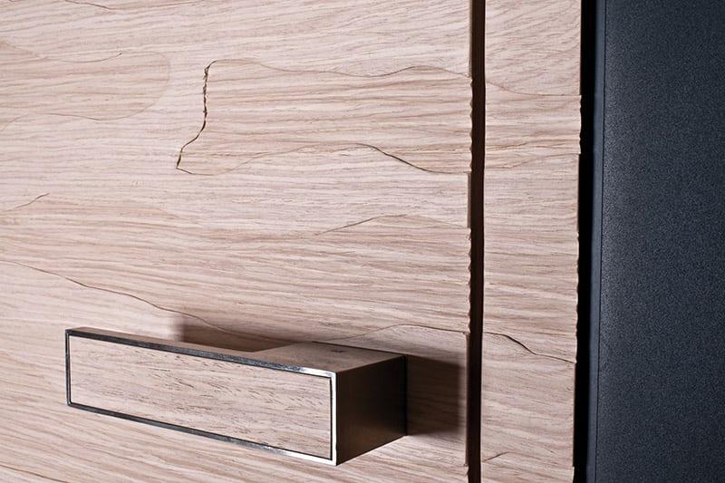 elegante holzmöbel mit holzstruktur für modernes interior design