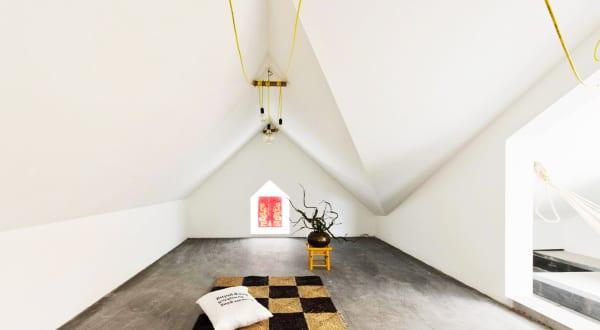 filigrane Raumgestaltung vom Origami inspiriert