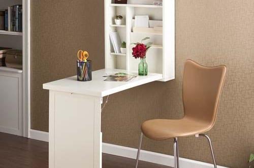 Schreibtisch als wandbefestigter klapptisch wei freshouse for Kleiner klapptisch weiss