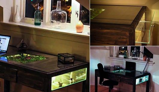 DIY Schreibtisch Terrarium