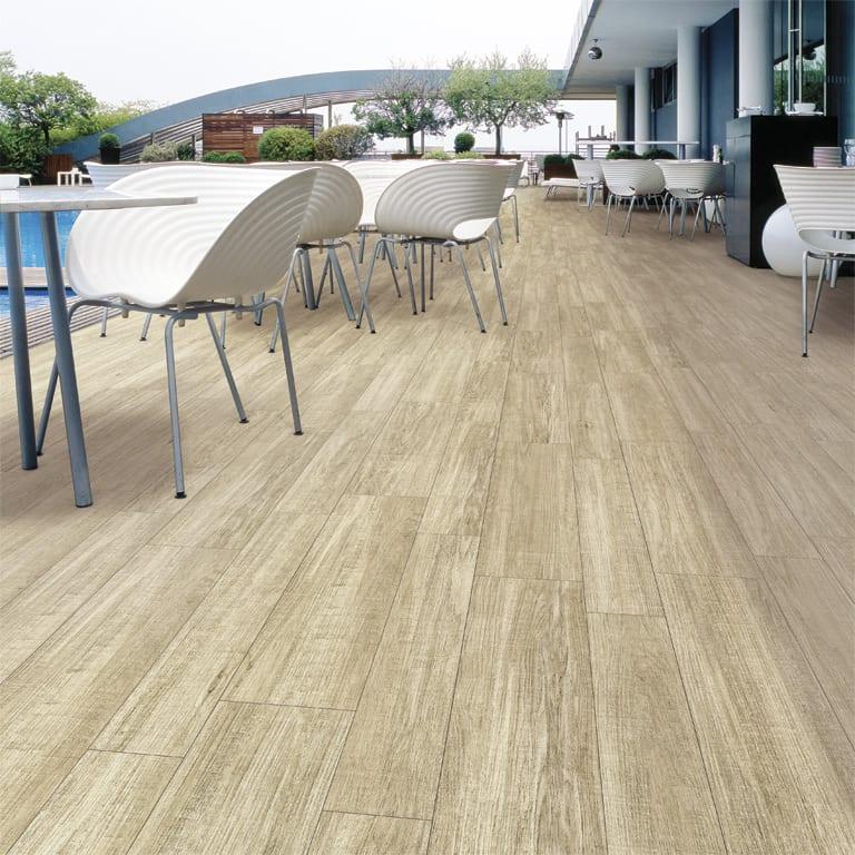 terrasse ideen für gestaltung mit Bodenfliesen mit Holzoptik