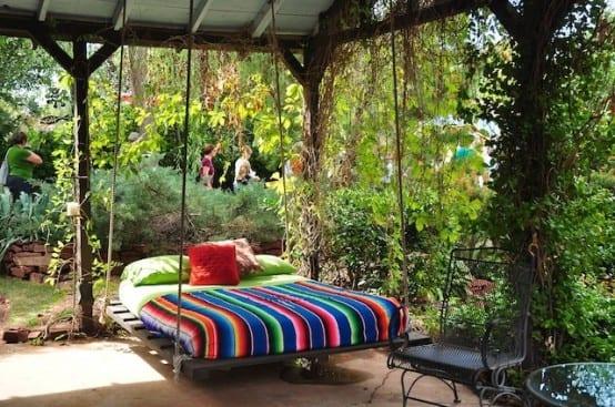 coole idee für DIY Gartenmöbel aus Paletten