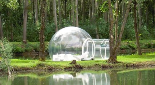 geschenkidee für romantische übernachtung im bubble zelt
