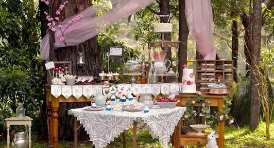Büffet Gartenparty ideen