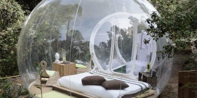 bubble zelt als modernes schlafzimmer im freien - freshouse, Hause ideen