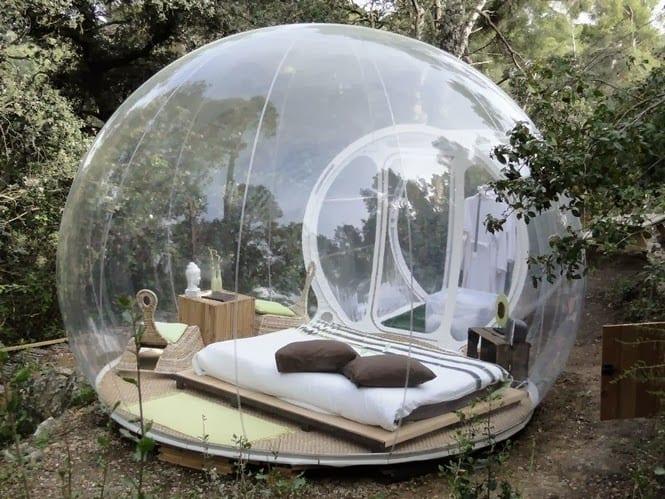 coole idee für den garten mit schlafzimmer im Bubble Pavillon